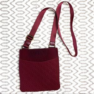 Tory Burch Fleming Red Canvas Crossbody Purse